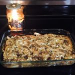 Warm Delicious Apple Cobbler with Streusel