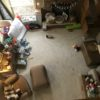 Family Room Before: Arial photo of the destruction a toddler can accomplish in just a few short minutes.
