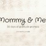 Falling for Gratitude :: 30 Days of Gratitude – A Journal for Mama and Me