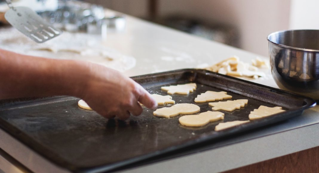 Baking sugar cookies with kids
