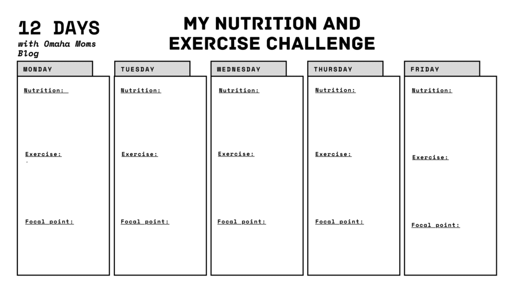 Nutrition and Exercise Challenge