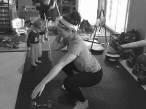workout at home with kids