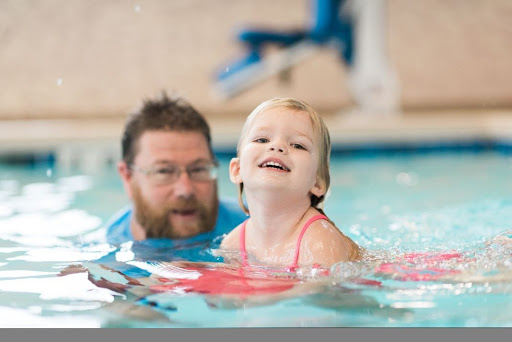child and instructor at Diventures in Omaha