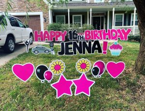 birthday yard sign Jenna