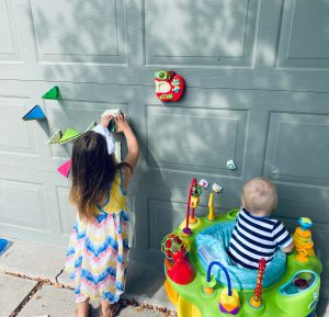 Toddler-approved Magnatiles Activities