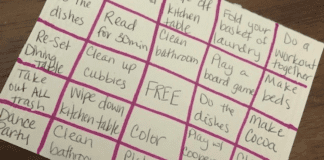 The BINGO Chore List Omaha Mom